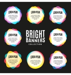 Isolated abstract bright colorful round shape logo vector