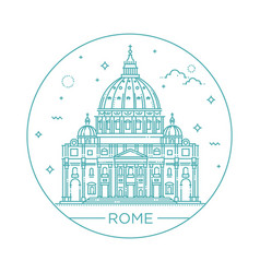 Line of st peter s basilica vector