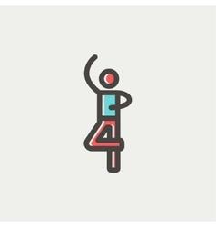 Male dancer thin line icon vector image