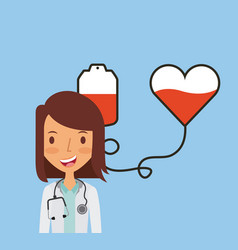 Medical doctor woman icon vector