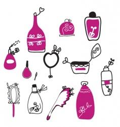 perfume cartoons vector image