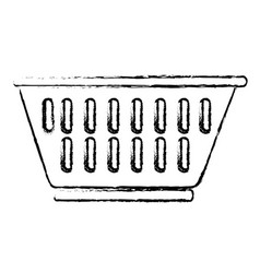 Plastic basket empty laundry icon vector