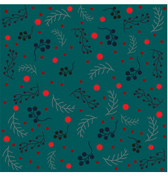 seamless christmas pattern with branches vector image vector image