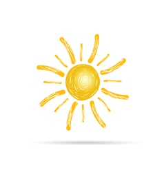 Sun color vector