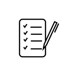 task list icon vector image