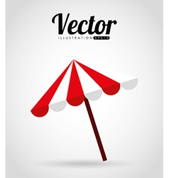 umbrella beach vector image
