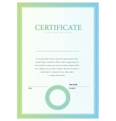 Vertical template certificate and diplomas vector