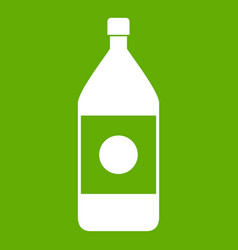 water bottle icon green vector image vector image