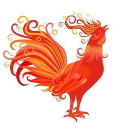 Fire rooster symbol of 2017 new year vector