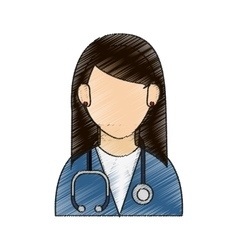 Isolated woman doctor design vector
