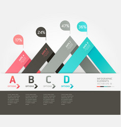 Modern infographics origami style vector image