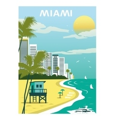 Miami beach florida vector