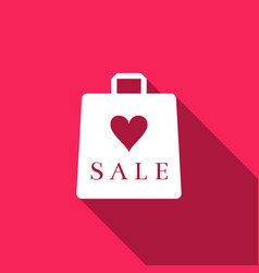 shopping bag shop love like heart icon with an vector image