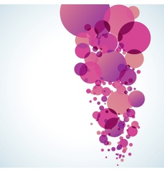 Abstract colored background with circles EPS 10 vector image