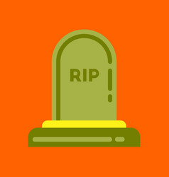 flat icon on background halloween grave vector image