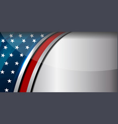 American flag color background vector