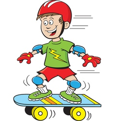 Cartoon skateboard boy vector