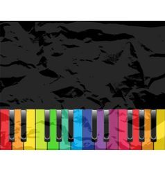 Piano with multicolored keys vector