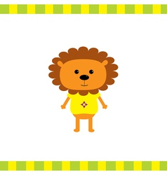 Cartoon lion boy card vector