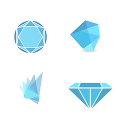 Gemstone sign collection vector
