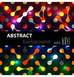 Abstract disco glowing of background vector