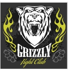Grizzly bear head - emblem vector