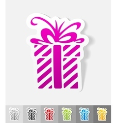 Realistic design element gift vector