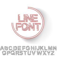 Set of alphabet text design vector