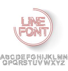 Set of Alphabet Text Design vector image