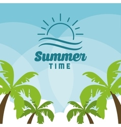 Summer design palm tree icon graphic vector