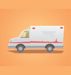 ambulance car flat design vector image