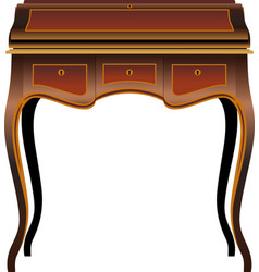 Antique furniture secretaire vector