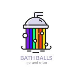 bath balls vector image
