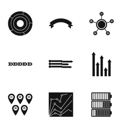 Business analyst icons set simple style vector