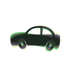 Car sign colorful icon vector
