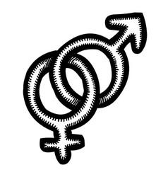 Cartoon image of gender icon vector