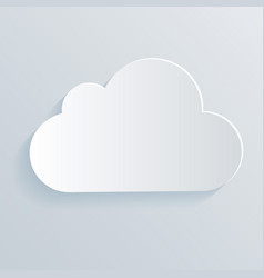 cloud white icon symbol vector image vector image