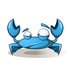 cute funny crab - cartoon vector image