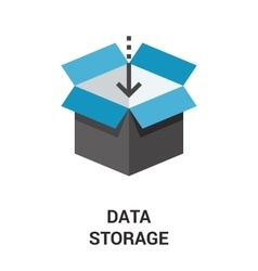 data storage icon vector image vector image