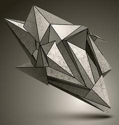 Deformed sharp zink object contrast cybernetic vector image