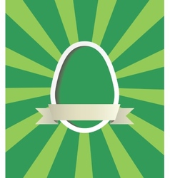 Easter egg frame vector image vector image