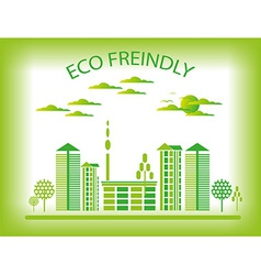 Eco friendly city background vector