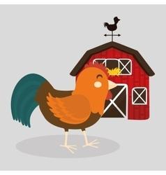 Farm design animal icon white background vector