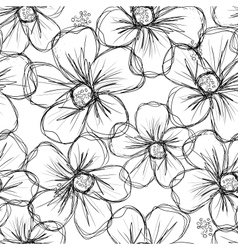 Floral seamless background for your design vector image vector image