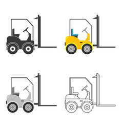Forklift icon of for web and vector