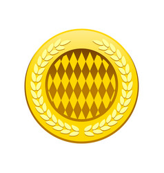 Golden premium circular badge symbol logo design vector