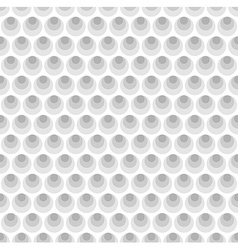 Gray circles seamless pattern background vector image