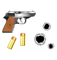 Gun and patrons vector