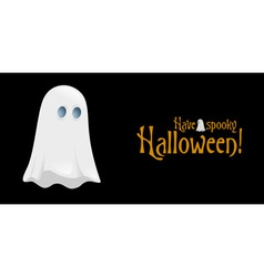 Halloween Poster with Ghost vector image