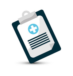 hospital prescription pad icon vector image